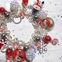 Vintage Christmas Charm Bracelet by Lisa Wiktorek