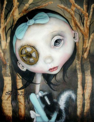 Clarissa & Her Pet Skunk by Michelle Lynch
