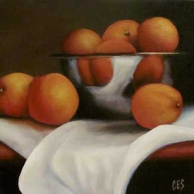 Oranges and Linen by Christine Striemer
