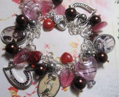Vintage Cupids Charm Bracelet by Lisa Wiktorek
