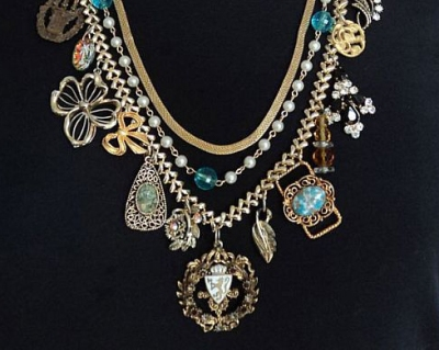 Art Collage Necklace by Studio 524