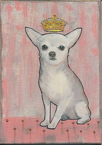 Queen for a Day by Sherry Key - Acrylic, collage on canvas