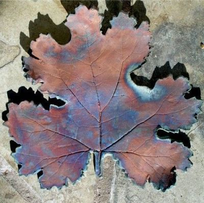 Raku Leaf by Deborah Sprague