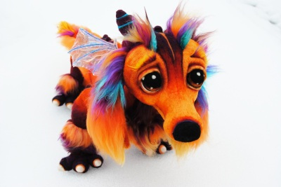 Dachshund Fire Dragon  by Tanglewood Thicket Creations