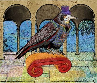 Well Dressed Raven by Mary Ogle