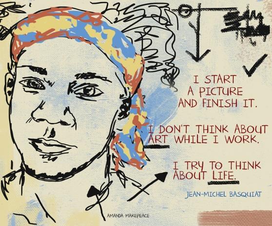 Jean-Michel Basquiat by Amanda Makepeace