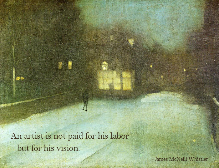 Nocturn in Grey and Gold by James McNeill Whistler