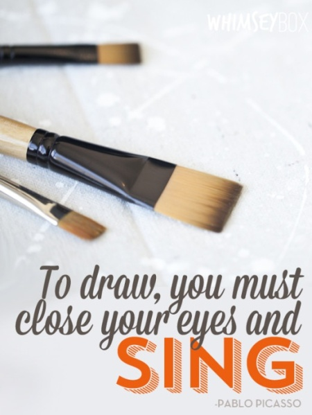 To draw. . .