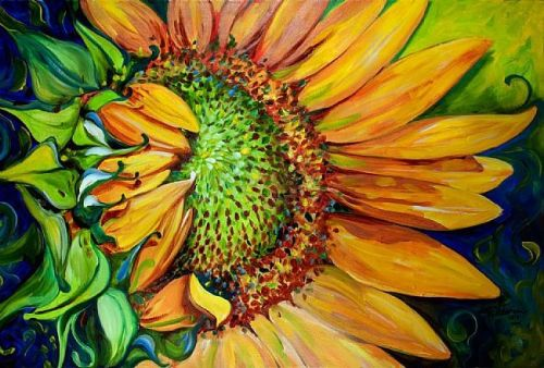New Day Sunflower by Marcia Baldwin