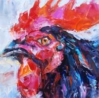 Rainbow Rooster by Carol DeMumbrum