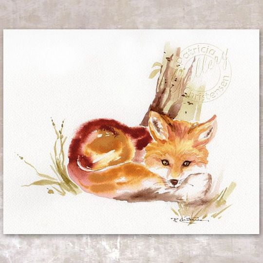 Red Fox in Repose by Patricia Lee Christensen