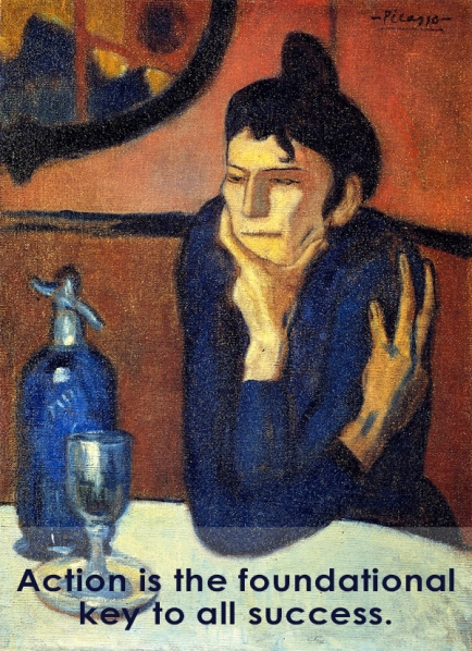 The Absinthe Drinker by Picasso