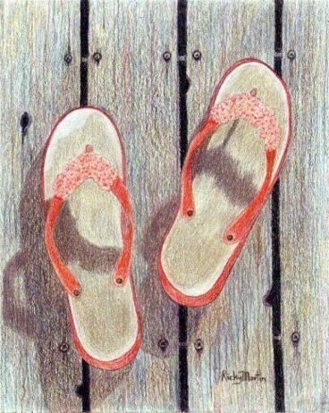 Flip Flops - Left Behind by Ulrike 'Ricky' Martin