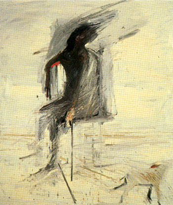 Seated Man with Dog, 1957