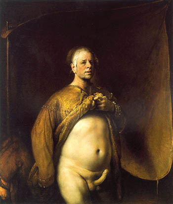 Self-portrait in Golden Cape, 1998 167 x 144 cm