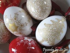 Etched 23k Gilded Christmas Eggs by So Jeo LeBlond