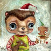 Merry Christmas Pickle Bear by Vicky Knowles