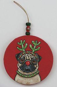 Red Nose Pug 1 by Melinda Dalke