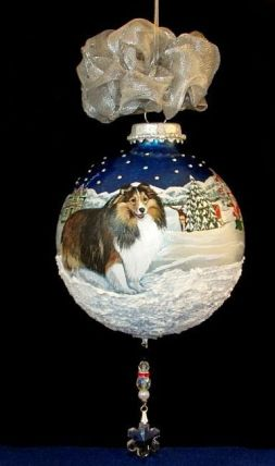 Sable Sheltie Christmas Ornament by Lynnelily