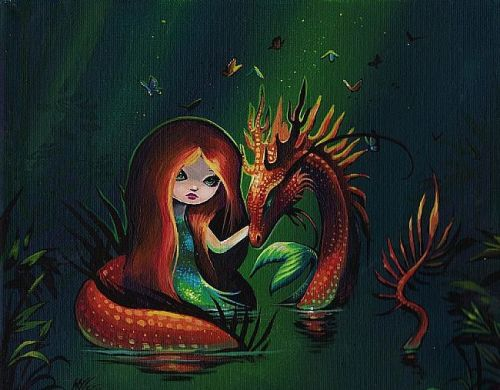 Mermaid and River Dragon by Nico Niemi