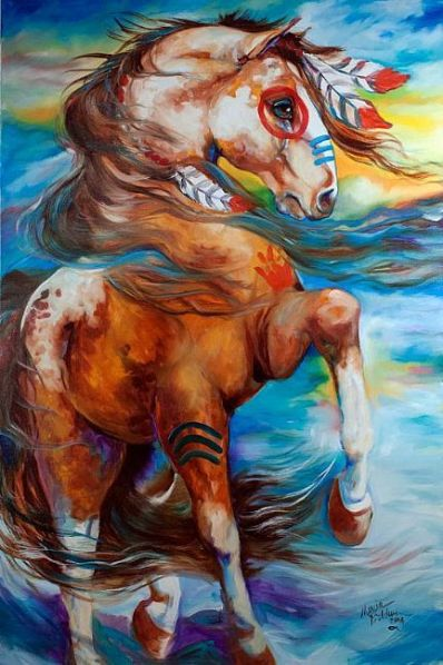Spirit Thunder War Horse by Marcia Baldwin