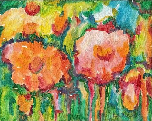 Abstract Flowers by Ulrike Martin