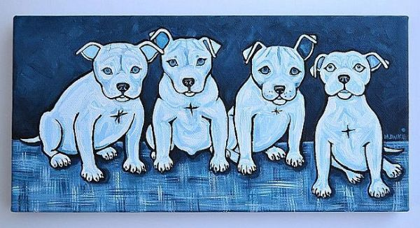 Four Dogs by Melinda Dalke