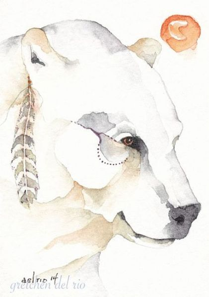 Spirit Bear by Gretchen Del Rio