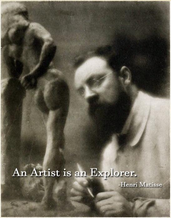 An Artist is an Explorer