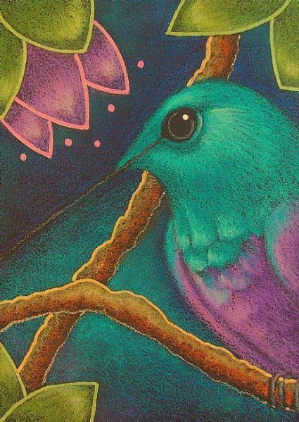 Violet Bellied Hummingbird by Cyra R. Cancel