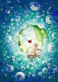 Mermaid Chasing Heart by Hiroko Reaney