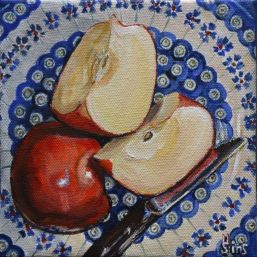 Apples Polish Pottery LXXXV by Heather Sims