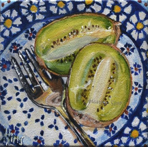 Kiwi: Polish Pottery LXXXIII by Heather Sims