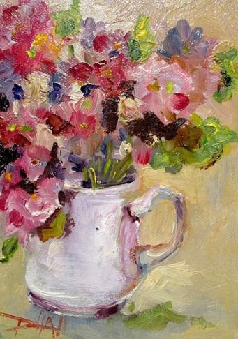 Cup of Flowers by Delilah Smith