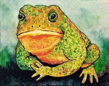 Happy Toad by Ulrike Martin