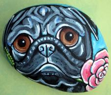Pug and Rose 2 by Melinda Dalke